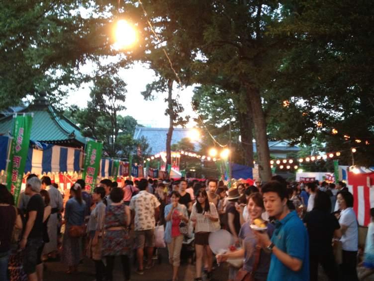 月窓寺の夏祭り