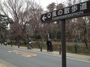 風の散歩道 道標