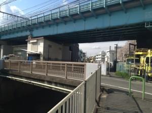 JRとの交差点 本村橋