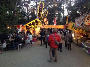 井草八幡宮 初詣の屋台