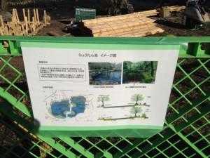 低木を除去して視界の確保・湿地の創出が目的