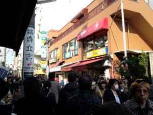 武蔵野珈琲店を七井橋通りから