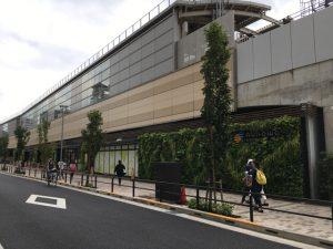 駅商業施設nonowaも出来て、グリーンなイメージが強くなりました