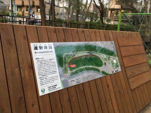 遅野井川を紹介する案内板